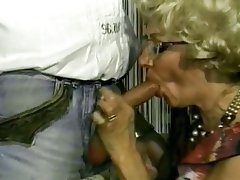 Blowjob, Granny, Blonde, Hairy