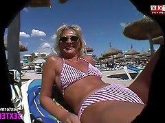 Amateur, German, Close Up, Beach