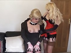 BDSM, Femdom, Stockings, Strapon