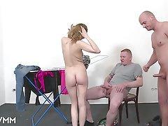 German, Mature, MILF, Threesome