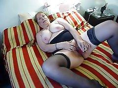 Stockings, Orgasm, Mature