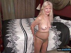 Masturbation, Mature, Saggy Tits