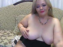 Saggy Tits, Blonde, Webcam, Mature