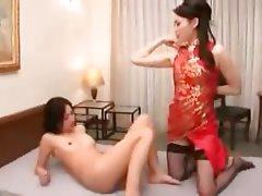 Japanese, Lesbian, Strapon