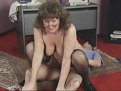 Blowjob, Mature, Brunette, Pantyhose