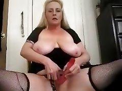 BBW, Big Boobs, Blonde, Masturbation
