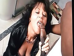 Blowjob, Interracial, Lingerie, Mature
