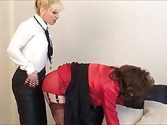 BDSM, Femdom, Secretary, Stockings