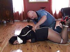Bondage pantyhose two girls